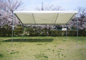4本柱片流れテント